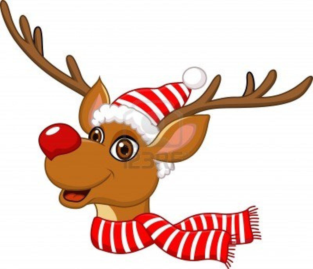 1200x1032 Cute Santa And Reindeer Clipart Clipartxtras