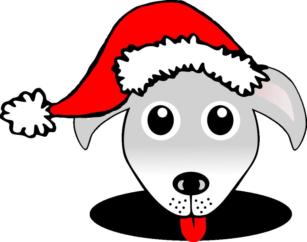 999x788 Christmas Dog Face Clipart