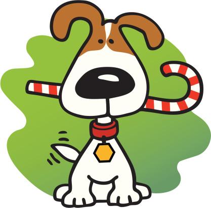 417x411 Christmas Dog Clipart