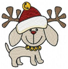 236x237 Christmas Dog Digital Clip Art For Personal By Giftseasonstore