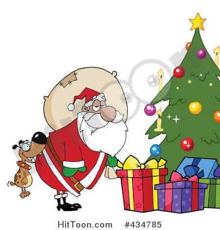 450x470 Dog Biting Santa Clipart