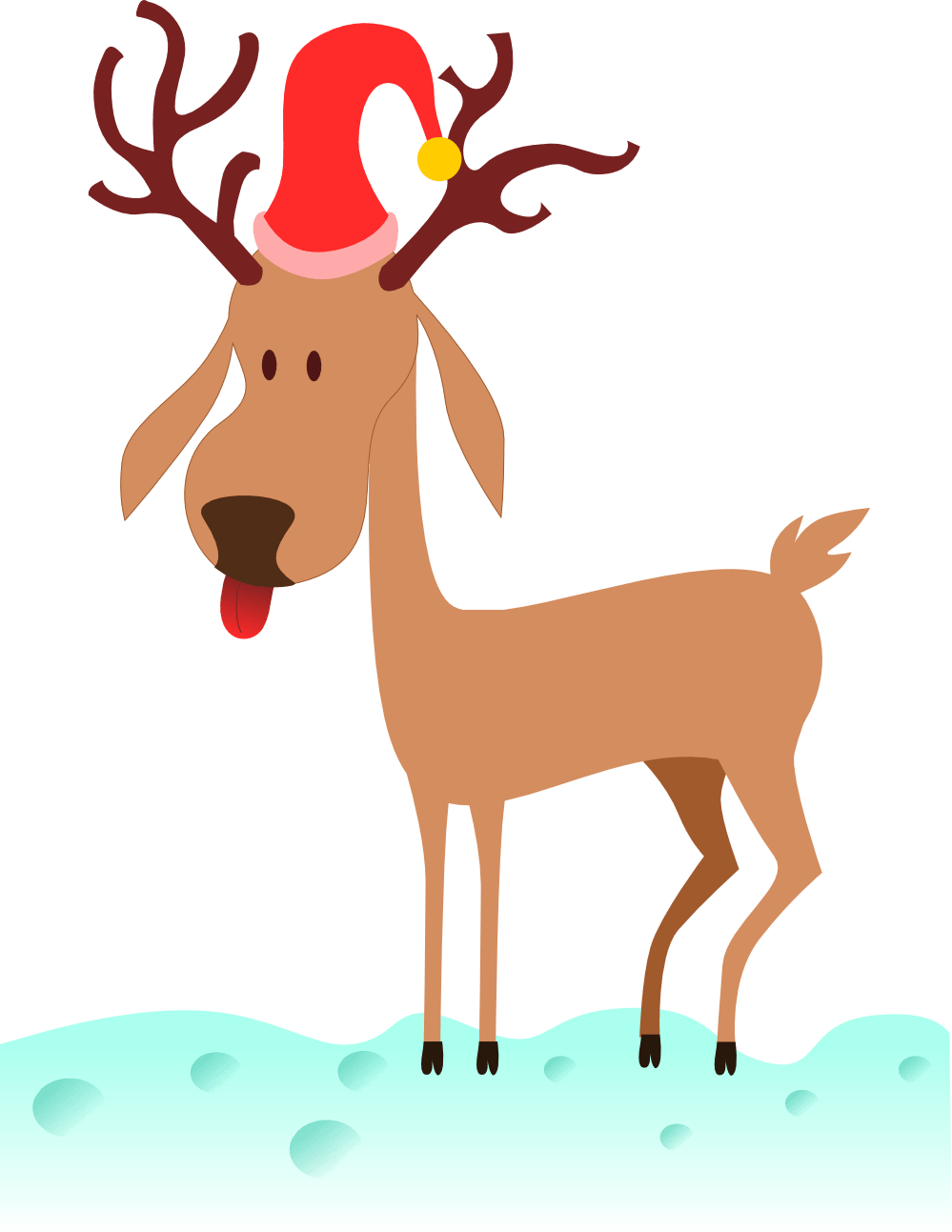 999x1293 Reindeer Dog Cliparts 250560