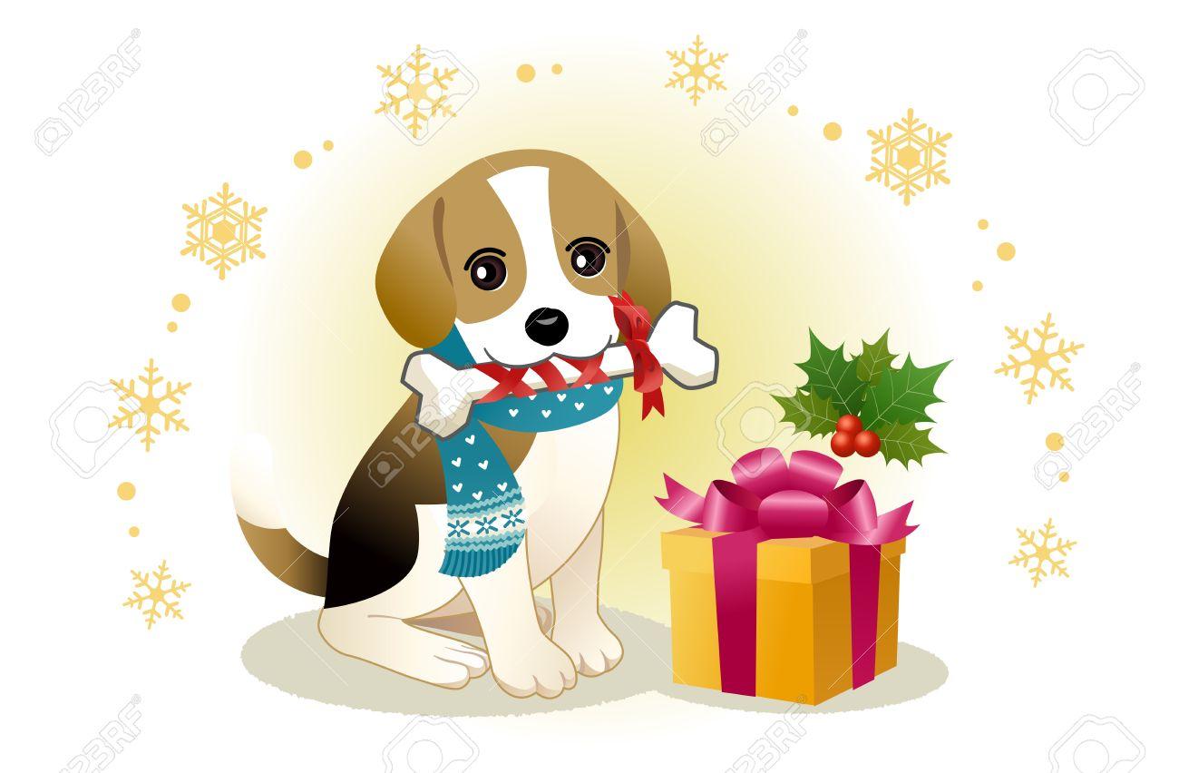 Christmas Dog Cliparts