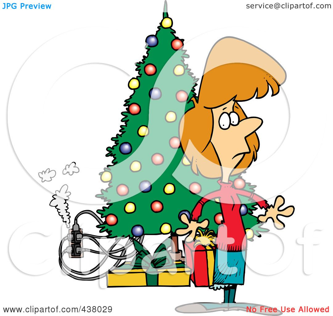 1080x1024 Electric Christmas Tree Clipart