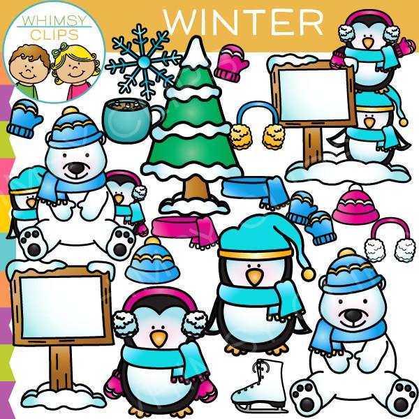600x600 Winter Clip Art , Images Amp Illustrations Whimsy Clips
