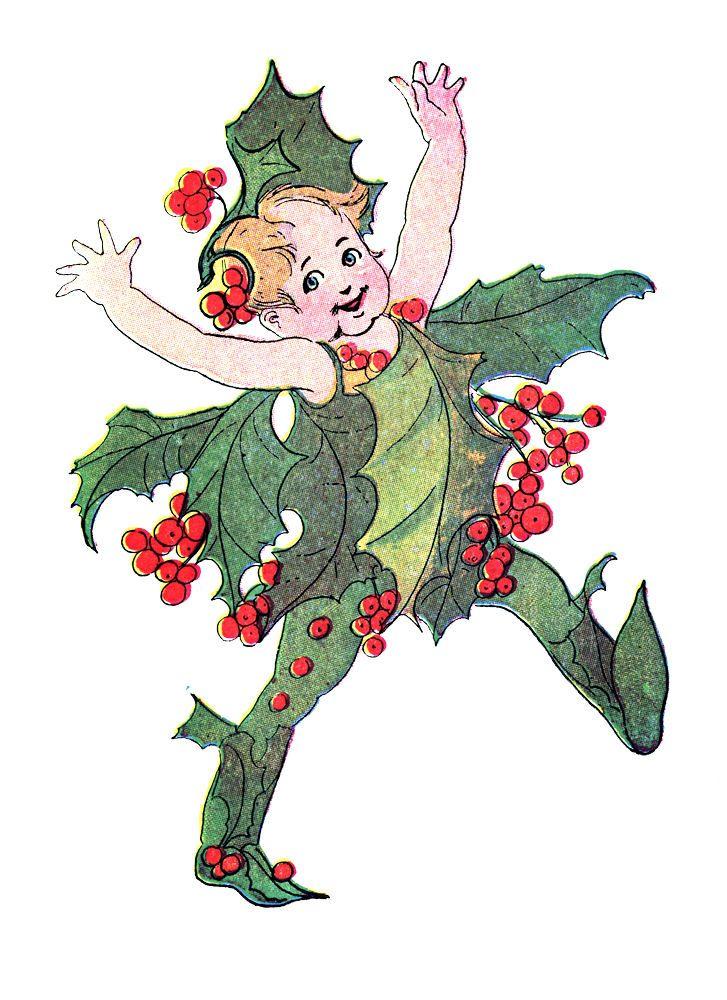 727x1000 Winter Flower Christmas Clip Art Merry Amp Happy