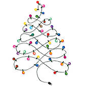 170x170 Clip Art Of Christmas Tree Garland K15283287