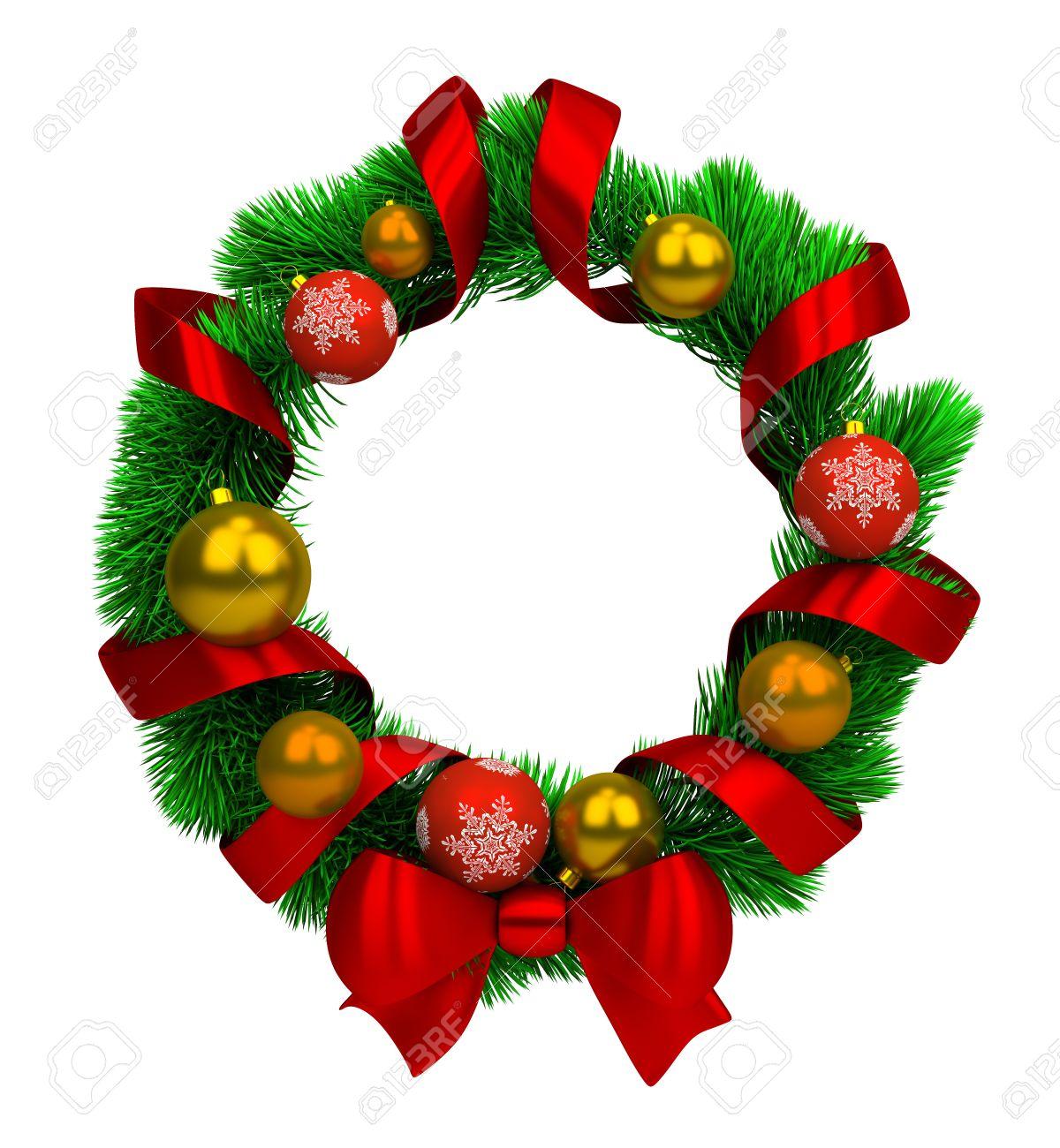 1200x1300 Free Christmas Wreath Border Clip Art