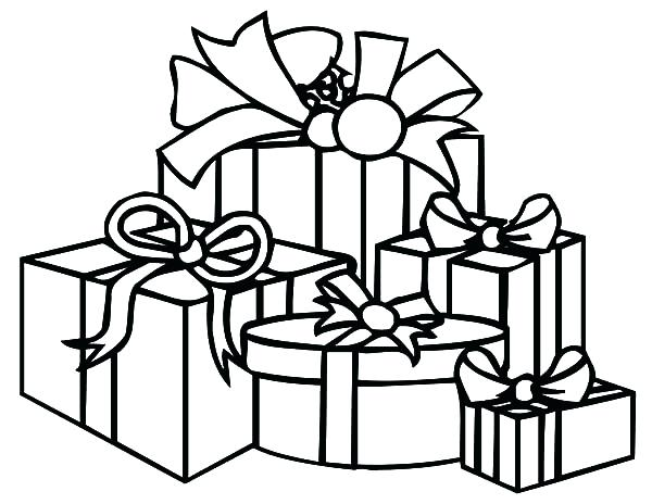 600x464 Christmas Present Coloring Pages Thaypiniphone