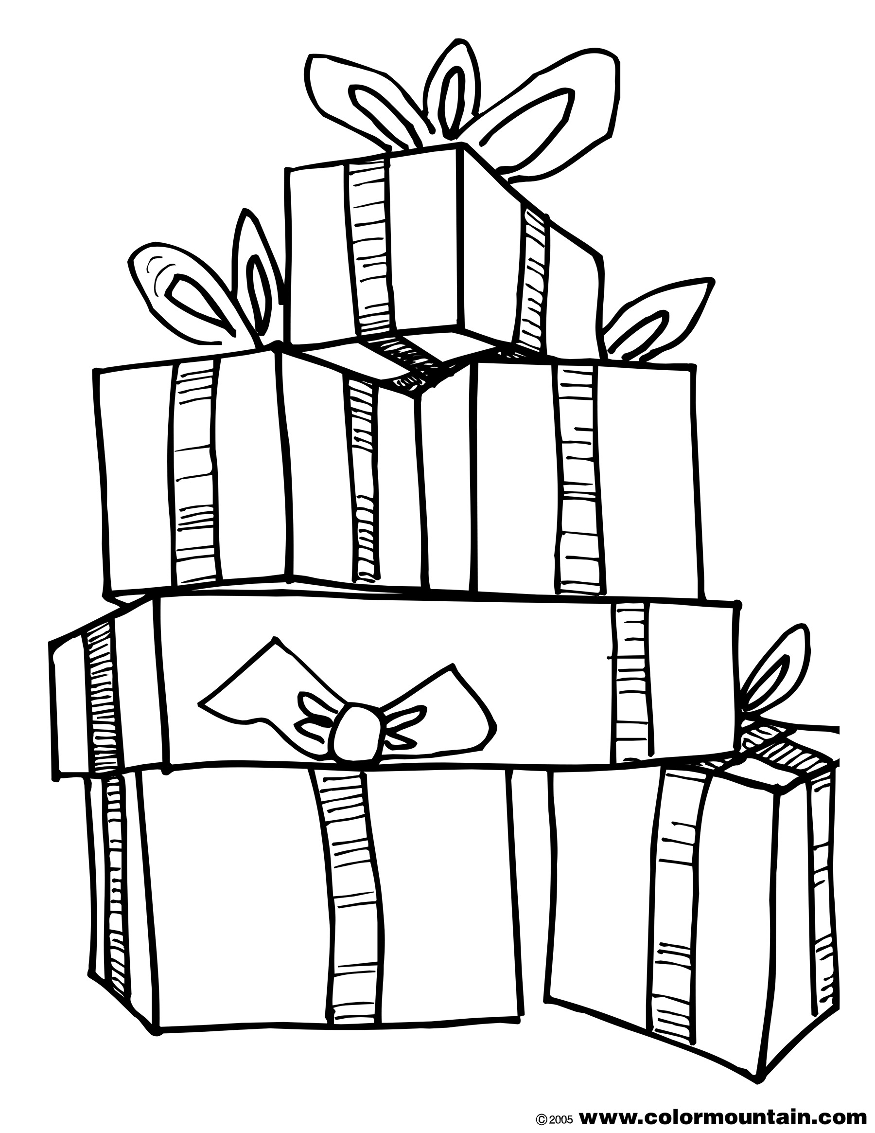 1800x2329 Line Art Stack Of Gifts