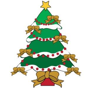 300x300 Free Christmas Tree Clip Art Image