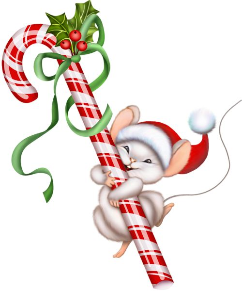 500x600 Candy Cane Christmas Mouse Clip Art Gallery Free Clipart Picture