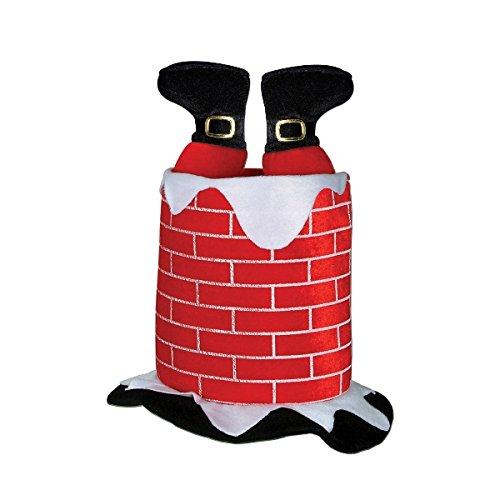 500x500 Beistle 1 Pack Plush Santa Chimney Hat Christmas Hat, Santa