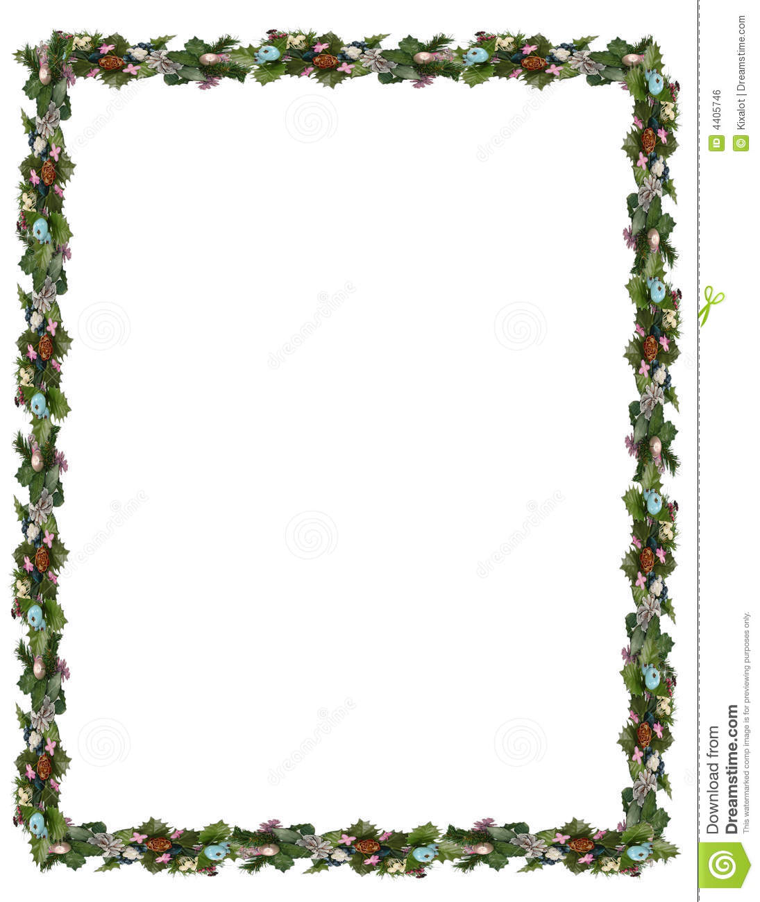 1095x1300 Christmas Border Clipart