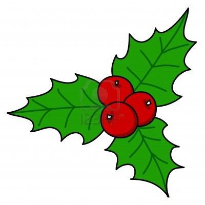400x400 Christmas Holly Clip Art 2