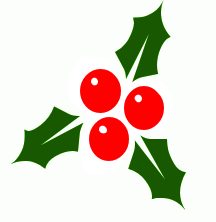 216x222 Free Holly Clipart
