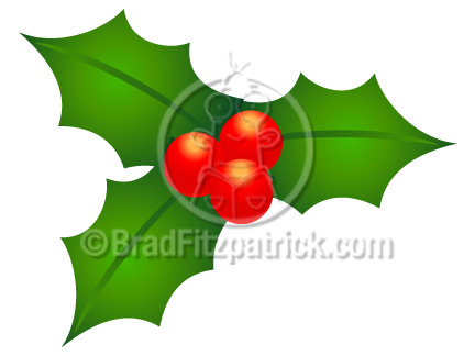 432x324 Cartoon Christmas Holly Clip Art Christmas Holly Clipart