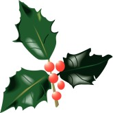 165x165 Holly Clipart, Christmas Holly, Christmas Holly Image