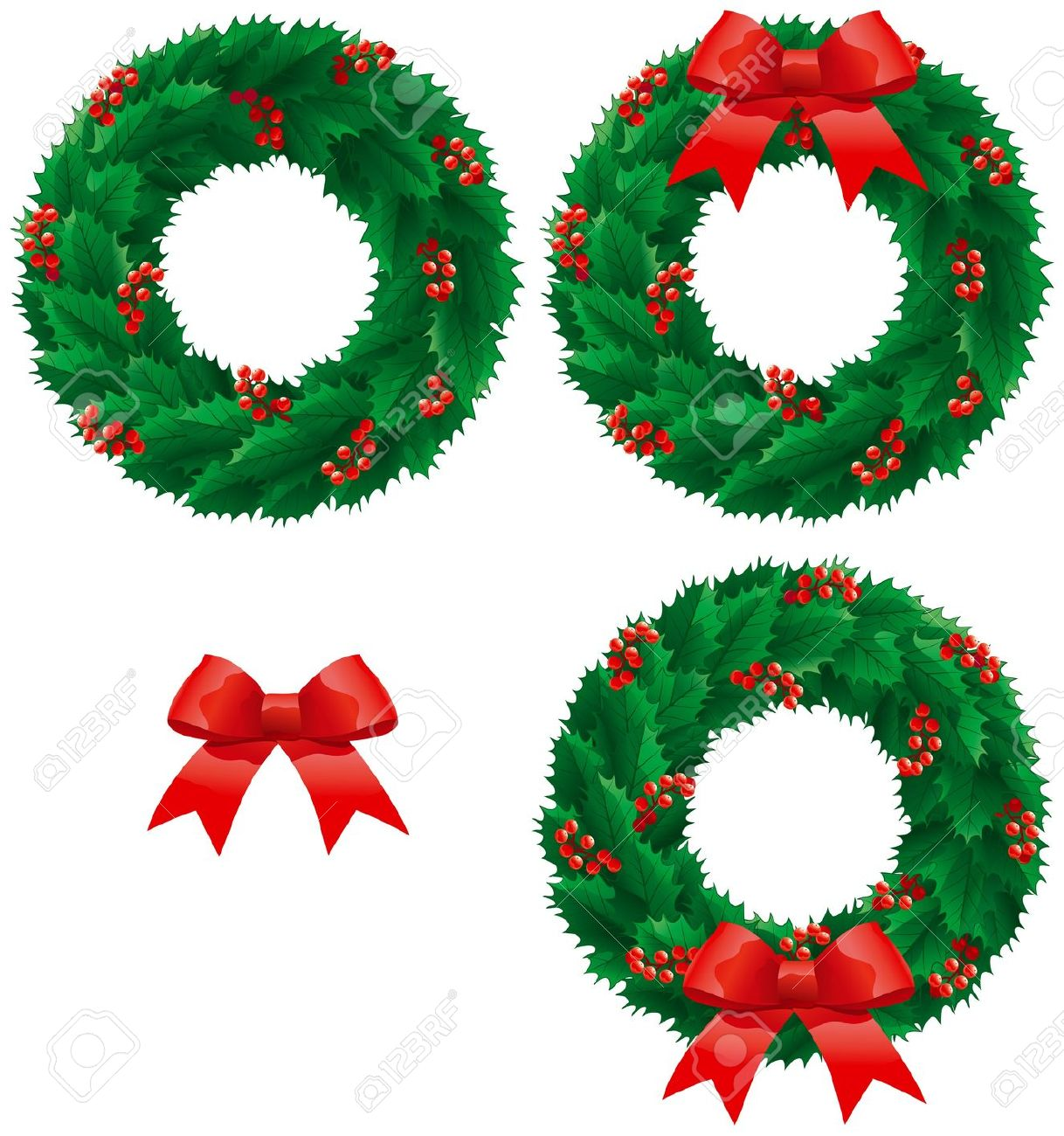 1218x1300 Clip Art Christmas Holly Border