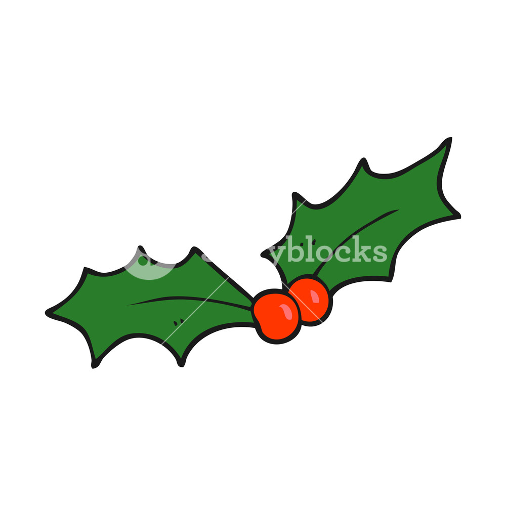 1000x1000 Freehand Drawn Cartoon Christmas Holly Royalty Free Stock Image