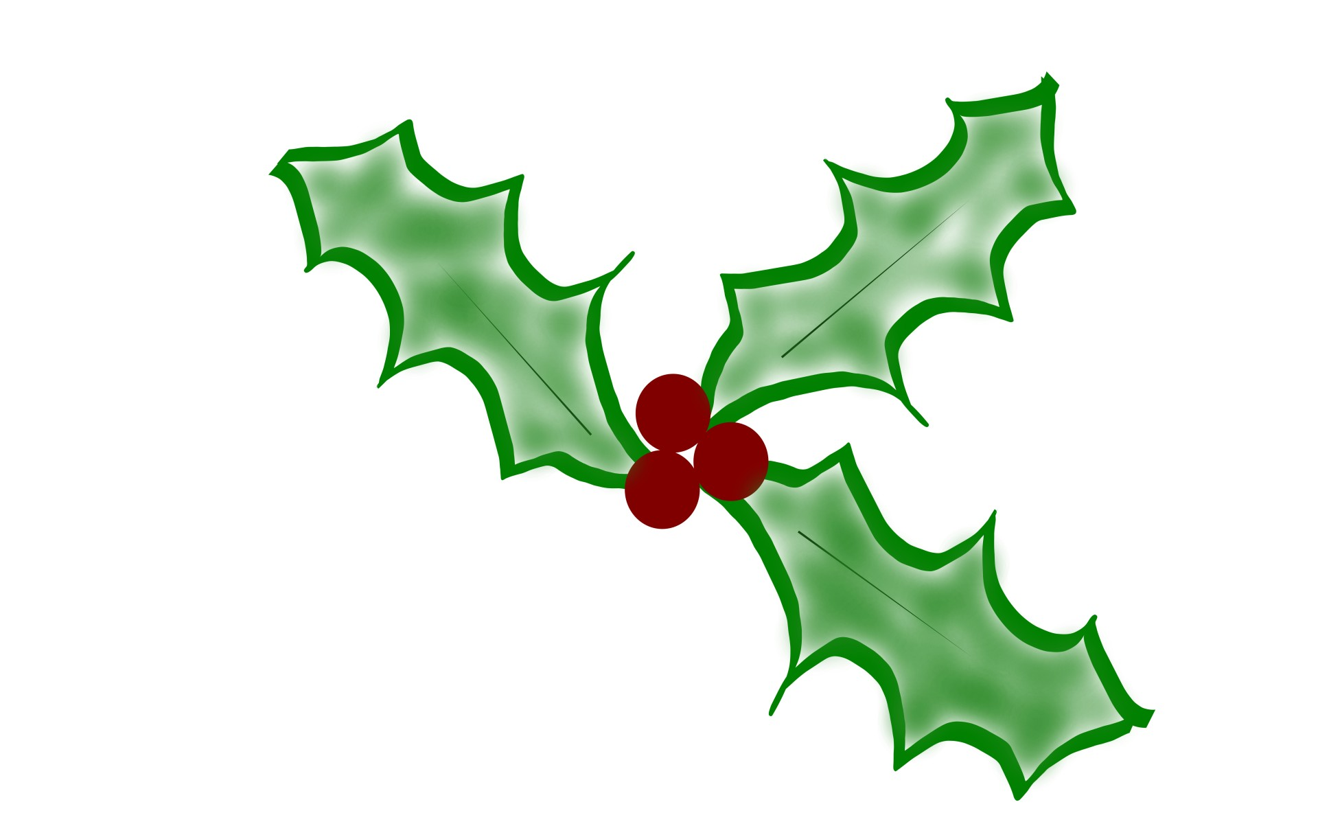 1920x1200 Christmas Holly Free Stock Photo