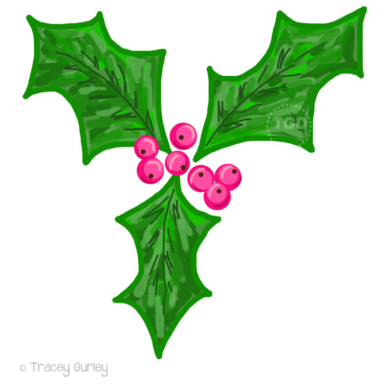 800x800 Holly Berry Clip Art Holly Clip Art Christmas Clip Art
