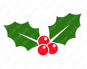 340x270 Holly Clip Art Etsy