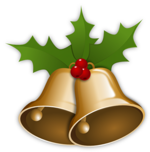 297x299 Christmas Bells With Holly Clip Art