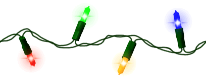 408x156 Christmas Lights Clip Art