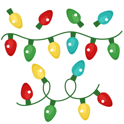 432x432 Christmas Lights Set Winter Svg Scrapbook Cut File Cute Clipart