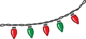 300x135 Christmas Lights Clipart Christmas Break