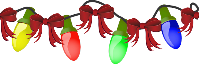 640x225 Clip Art Christmas Lights
