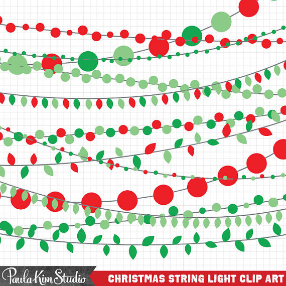 570x570 Red And Green String Light Clipart, Christmas Light Clipart
