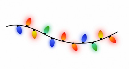 425x230 String Of Christmas Lights Free Vector In Adobe Illustrator Ai