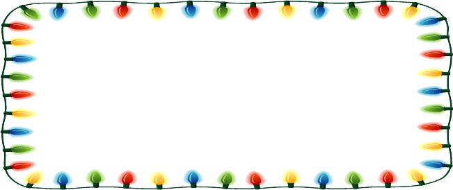 651x274 Christmas Lights Clipart Banner