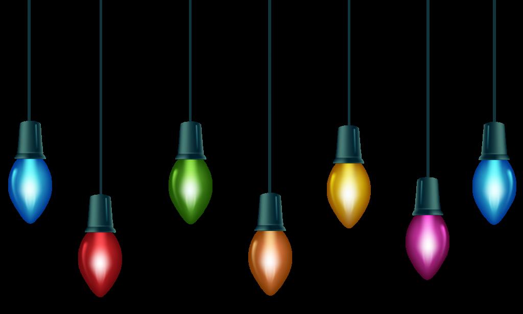 Christmas lights blinking. Light border free download
