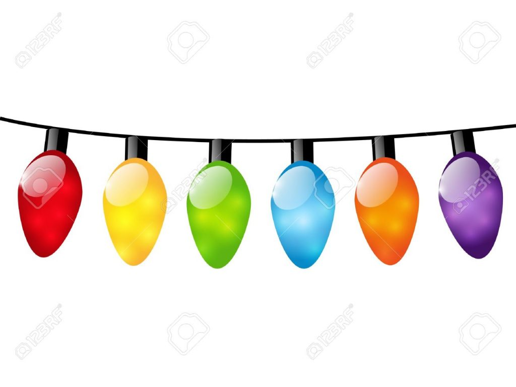 1024x768 Christmas ~ Christmas Lightspart Strung Pencil And In Color Free