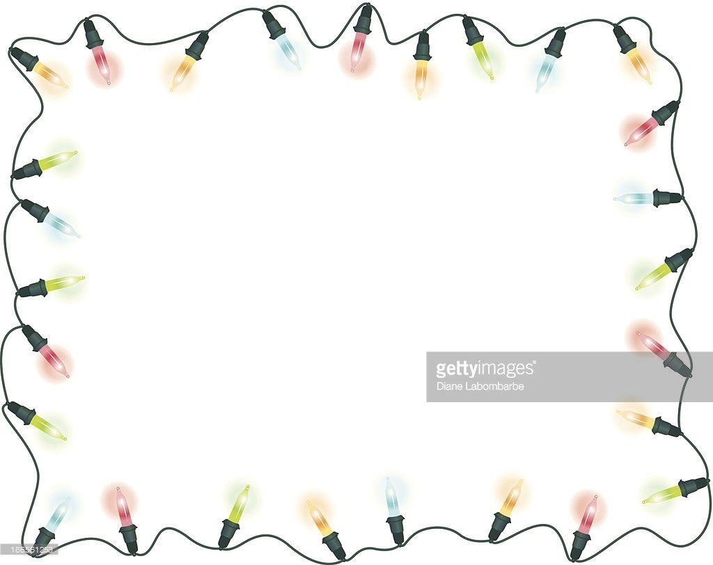 1024x812 Christmas ~ Christmas Lights Page Border Decoration Stock Photo
