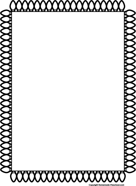 561x768 Clip Art Black And White Christmas Lights Clipart