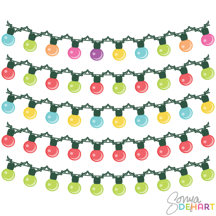 700x700 Free Christmas Lights Clipart Clip Art 2