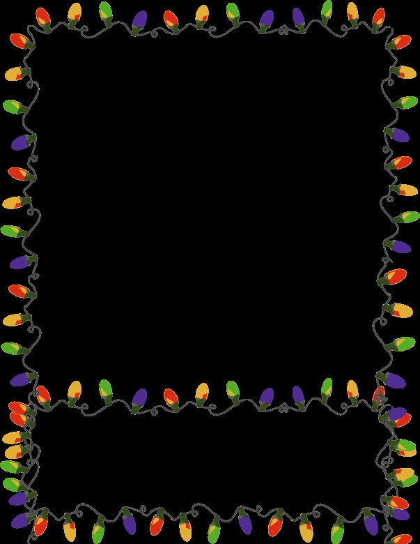 603x780 Christmas Lights Border Beneconnoi
