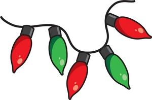 300x197 Christmas Lights Clip Art