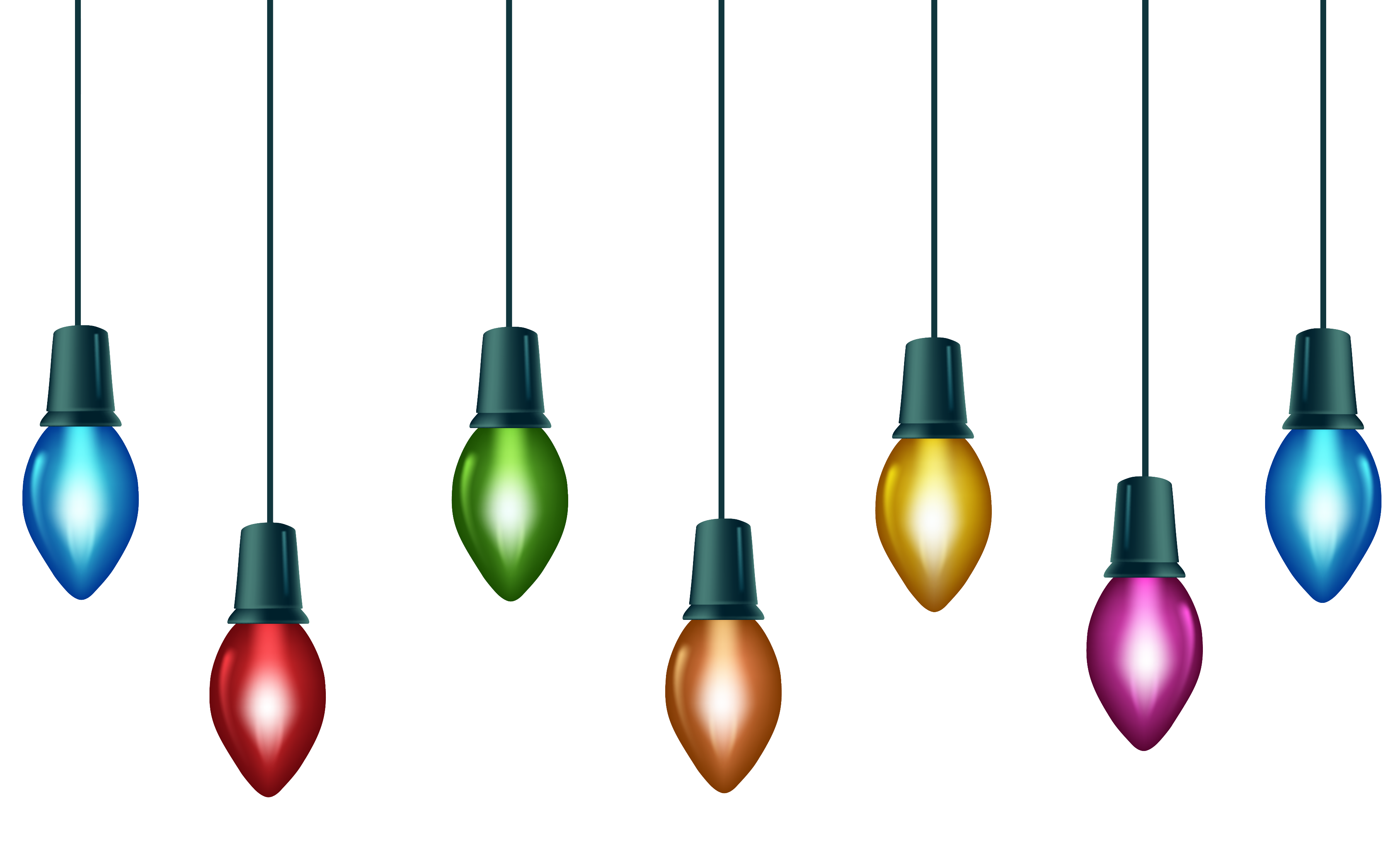 3622x2180 Christmas ~ Christmas Light Bulbs Clipart Free String Of Lights