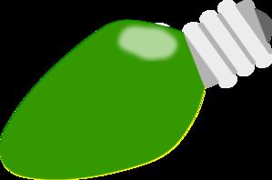 299x198 Green Christmas Lightbulb Clip Art