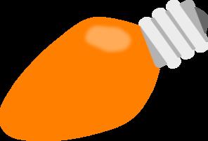296x201 Orange Christmas Lightbulb Clip Art