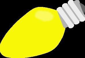 296x201 Yellow Christmas Lightbulb Clip Art