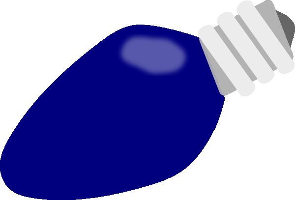 600x407 Blue Christmas Lightbulb Clip Art