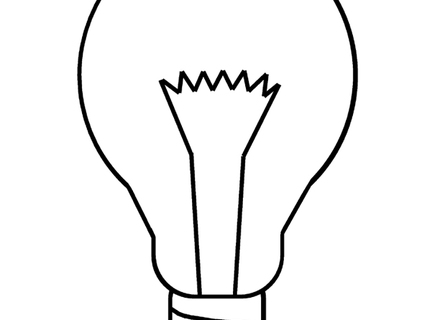 440x320 Christmas Light Coloring Page Christmas Light Bulb Coloring Page