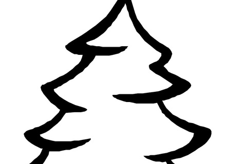 440x320 Christmas Tree Coloring Pages Lighting The Outdoor Christmas