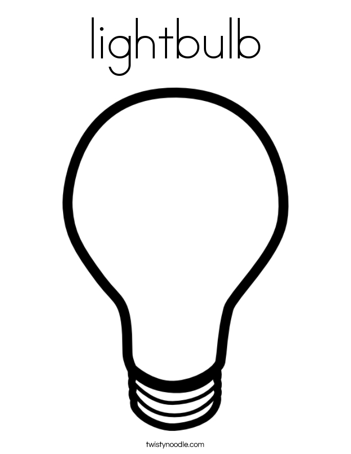685x886 Lightbulb Coloring Page